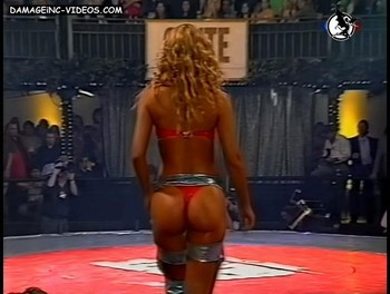 Susana Sadej perfect butt in red thong damageinc videos