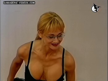 Paula Martinez deep cleavage blonde