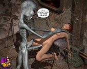 [XL-3D] Trapped with a horny alien