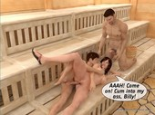 3Dincestvideos - Bunch in the Sauna